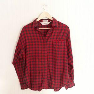 Diane Von Furstenberg Buffalo Check Flannel Shirt